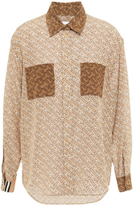 Burberry Printed Silk Crepe De Chine Shirt