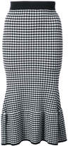 Jonathan Simkhai gingham flared pencil skirt