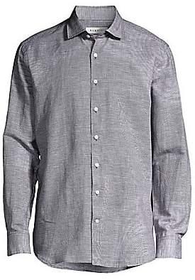 Bugatti Men's Modern-Fit Long-Sleeve Button-Down Shirt