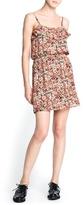 MANGO Floral print chiffon dress