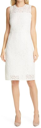 HUGO BOSS Dasicana Lace Sheath Dress