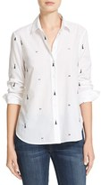 Equipment Women's Leema Embroidered Poplin Shirt