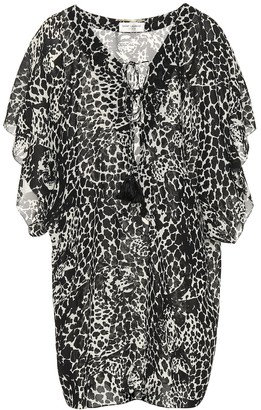 Saint Laurent Printed crepe minidress