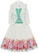 Knitworks Knit Works Sleeveless Floral A-Line Dress Girls