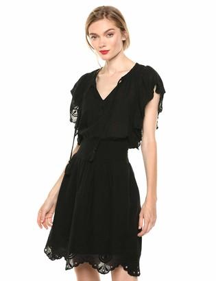 Jessica Simpson Women's Plus Size Wylla Above The Knee A-Line Schiffli Dress