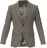 Alexander Mcqueen Single-breasted Wool-blend Blazer