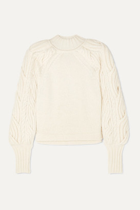 BITE Studios Cable-knit Organic Cotton-blend Sweater - White