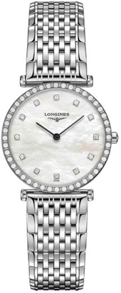 Longines La Grande Classique de Diamond & Stainless Steel Link Bracelet Watch