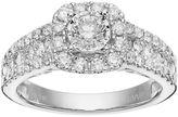 Simply Vera Vera Wang 14k White Gold 1 1/4 Carat T.W. Diamond Cushion Halo Engagement Ring
