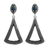 Baojun Europe and the United States retro triangle hollow diamond earrings
