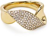 Ippolita 18k Gold Stardust Twist Ribbon Ring w/ Diamonds