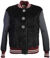 N°21 Wool And Cotton Blend Button Embellished Bomber Jacket
