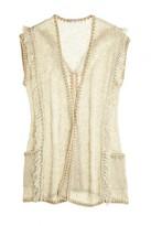 Calypso St. Barth Kaeyo Linen Blend Fringe Cocoon Sweater