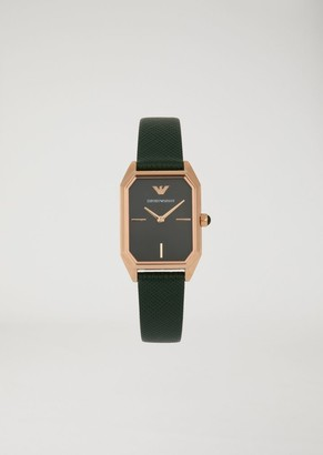 Emporio Armani Woman Two-Hands Leather Watch