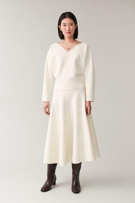 Cos Circle Cut Merino Skirt