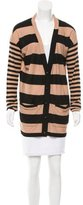 Sonia Rykiel Striped Button-Up Cardigan