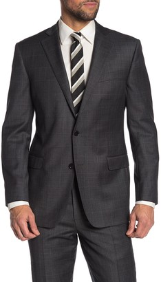 Brooks Brothers Dark Grey Sharkskin Two Button Notch Lapel Explorer Collection Regent Fit Suit Separates Jacket