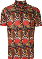 Etro ethnic print polo shirt - men - Linen/Flax - S