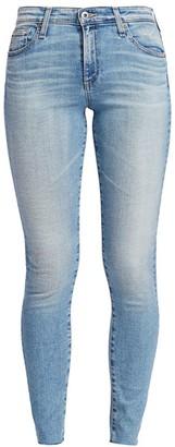 AG Jeans Farrah Mid-Rise Ankle Skinny Raw Hem Jeans