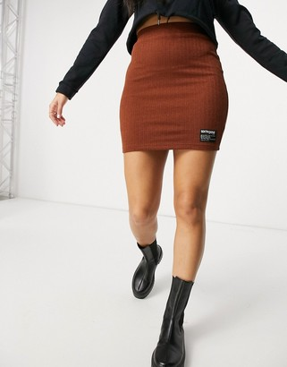 Sixth June mini bodycon skirt in rib co-ord