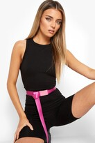 Thumbnail for your product : boohoo Slider Tape Buckle Belt