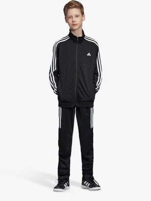 adidas Boys' Side Stripe Tracksuit, Black