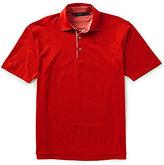 Bobby Jones Golf Artisan Diamond Jacquard Short-Sleeve Polo Shirt