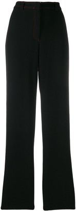 Versace Pre Owned 1990's Contrast Stitch Trousers