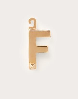 "Valentino Garavani Call Me f"" Charm Women Gold Brass 100% OneSize"