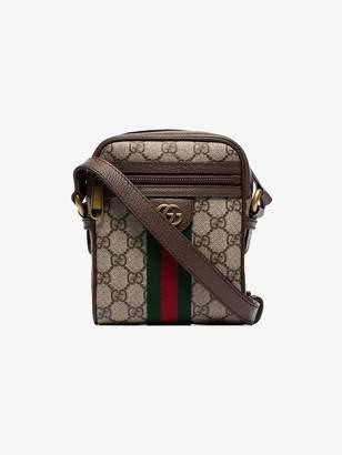 Gucci Brown Ophidia logo shoulder bag