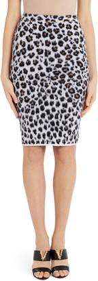Versace Leopard Jacquard Sweater Skirt