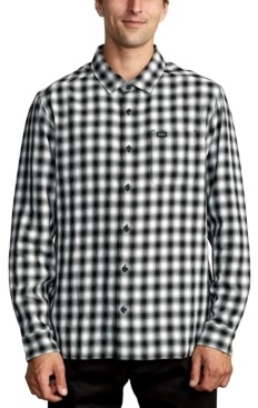 RVCA Men's Telegraphc Relaxed-Fit Plaid Flannel Shirt