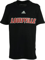 adidas Kids' Louisville Cardinals Team Font Arch Short Sleeve T-Shirt
