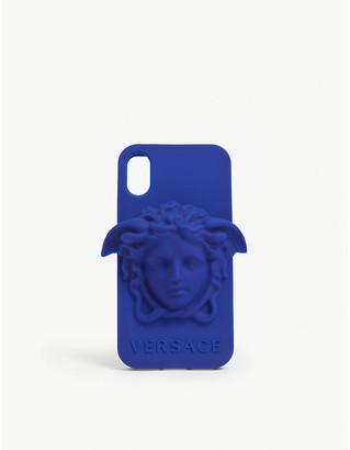 Versace Medusa logo silicone iPhone X case