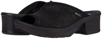 Lulu Bzees Black Loose Knit) Women's Sandals
