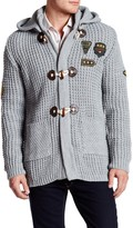 Ron Tomson Long Sleeve Patch Cardigan