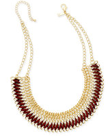 INC International Concepts Faux-Suede Woven Chain Collar Necklace, Only at Macy's