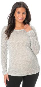 Motherhood Long Sleeve Boat Neck Keyhole Detail Maternity T Shirt