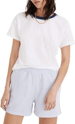 Madewell Whisper Cotton Rib Crewneck Ringer T-Shirt