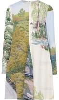 Stella McCartney Pleated Printed Crepe De Chine Mini Dress