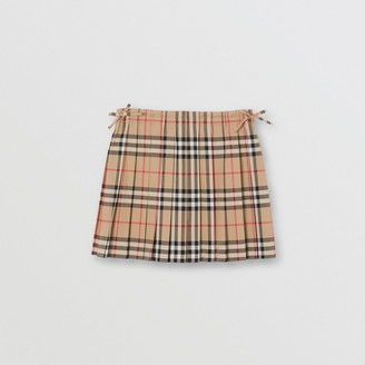 Burberry Childrens Vintage Check Pleated Skirt