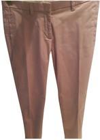 Daniele Alessandrini Pink Cotton Trousers for Women