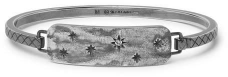 Bottega Veneta Engraved Gunmetal-Tone Crystal Cuff