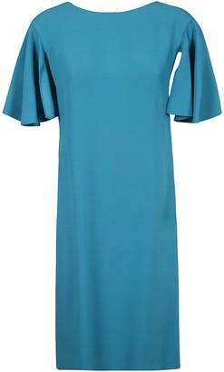 Alberta Ferretti Wide Sleeve Dress