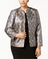 Kasper Plus Size Satin Flyaway Jacket