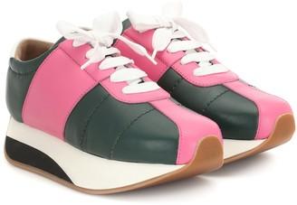 Marni Big Foot leather sneakers