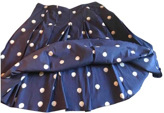 Prada Blue Cotton Skirts