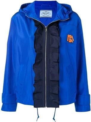 Prada frilled technical jacket