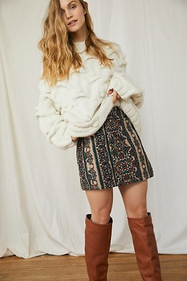 We The Free Holding Onto A Dream Printed Cord Skirt