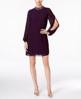 Vince Camuto Embellished Mock-Neck Shift Dress